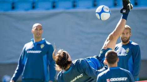 Olof Mellberg blir imponerad av Zlatan!
