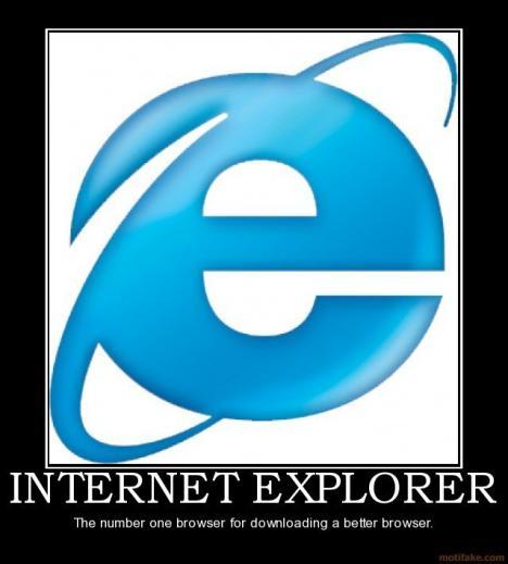 Internet Explorer - den främsta webbläsaren...