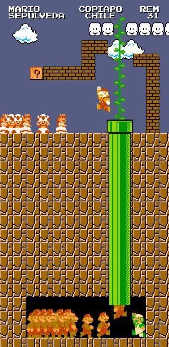 Chilenska gruvarbetarna i Super Mario-stil