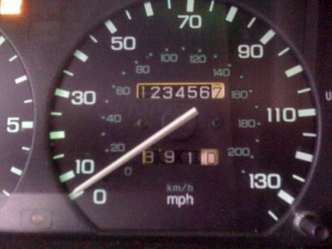Bra ordning på kilometerräknaren