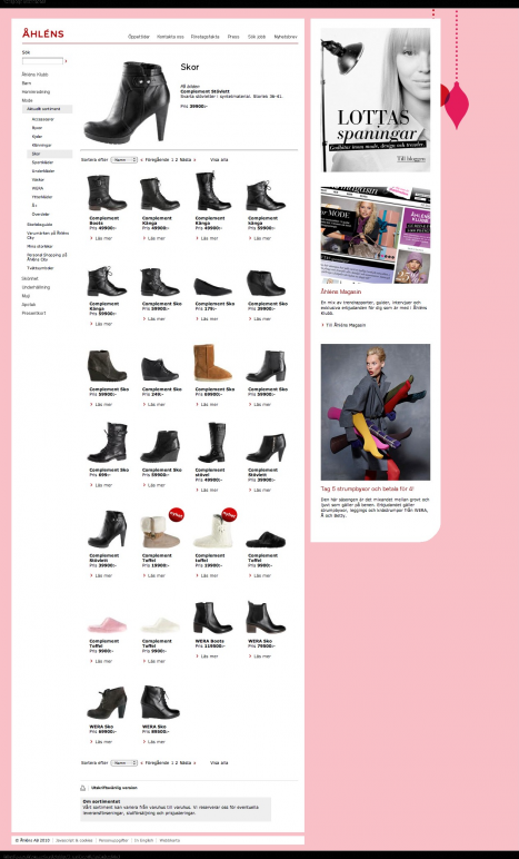 Åhléns säljer dyra skor