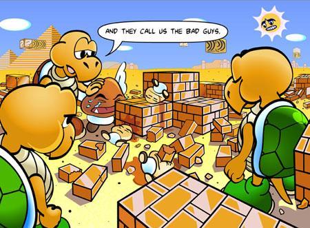 Mario ur ett annat perspektiv