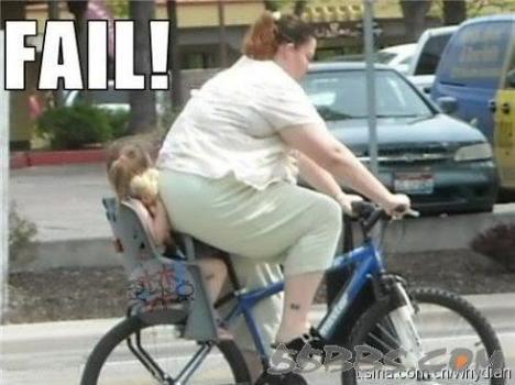 Varför stora mammor borde inte cykla med sina barn