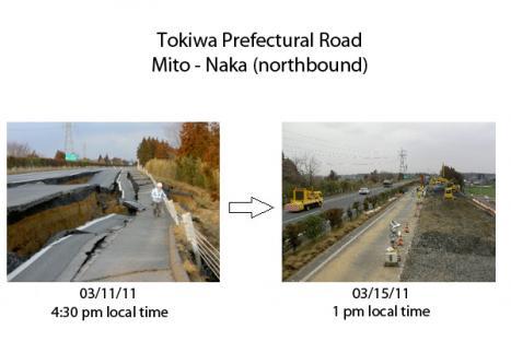Återuppbyggnaden i Japan går snabbt