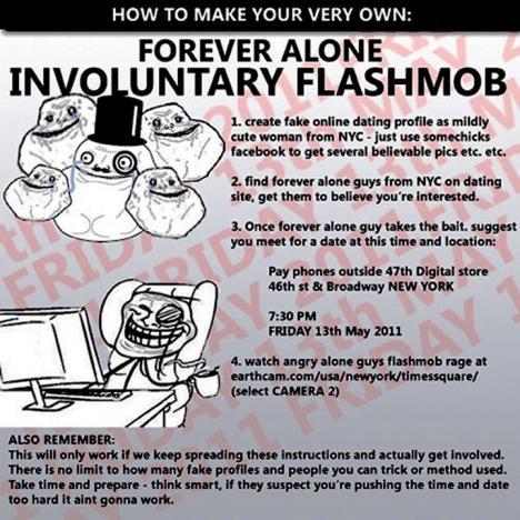 Forever Alone Involuntary Flashmob
