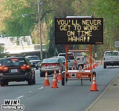 Du kommer aldrig komma i tid till jobbet!