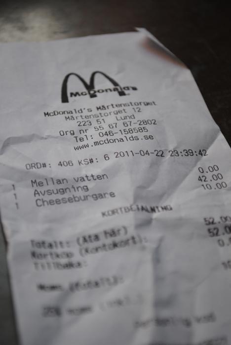 Jag var på McDonalds i helgen