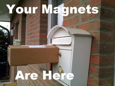 När man får magneter hemskickade