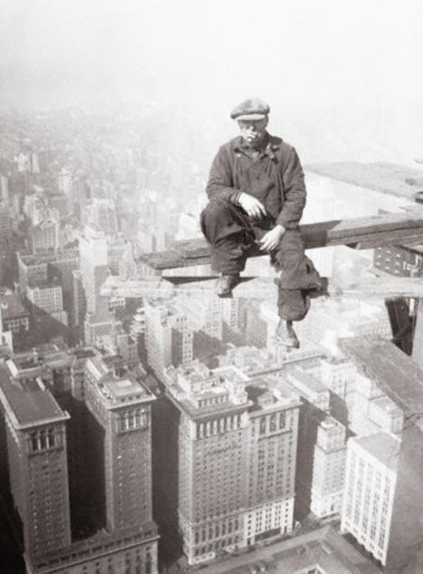 Byggarbetare vilar ut där andra blir stressade