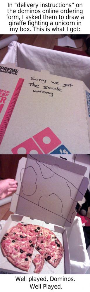 Pizzeria skojar tillbaka