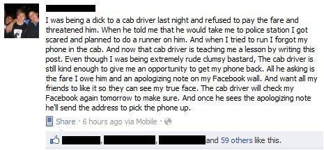 Glöm inte telefonen i Taxin om du ska smita
