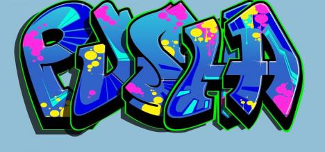 Pusha i graffiti stil =)