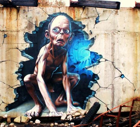 Gollum graffiti