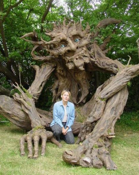 Häftigaste trädskulpturen