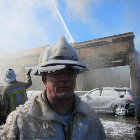 Iskall brandman