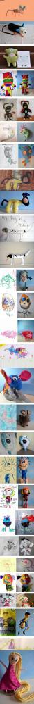 Om barns teckningar blev leksaker