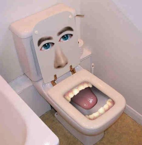 En välkomnande toalett stol