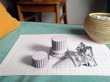 Imponerande 3D-teckning