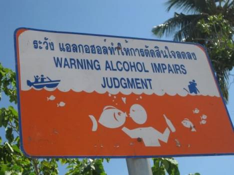 Alkohol påverkar omdömet!