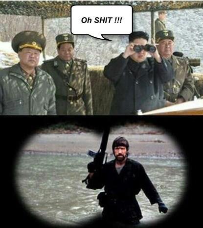 Kim Jong ser hans värsta fiende 0-0