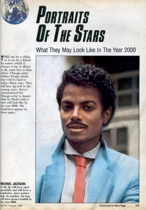 Hur Michael Jackson skulle ha sett ut år 2000