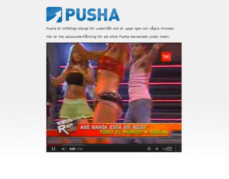 Pusha låg nere ...