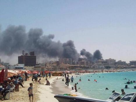 En dag på stranden i Egypten