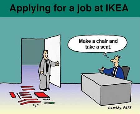Jobbintervju på Ikea