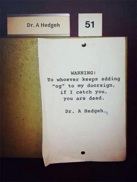 Terorisera doktorn s namn