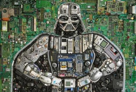 Darth Vader av gammal elektronik