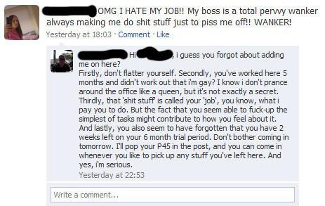 Man ska inte ha chefen som kompis på Facebook