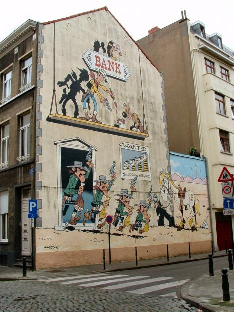 Lucky Luke i Bryssel