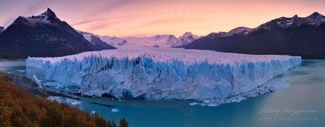 Imponerande panorama av Perito Moreno-glaciären