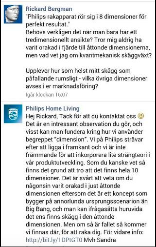 Philips har humor när de svarar