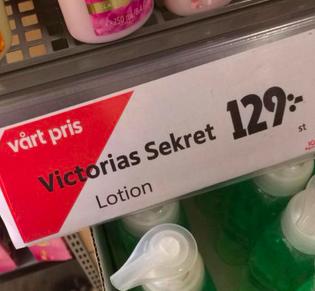 Får det vara lite Victorias Sekret
