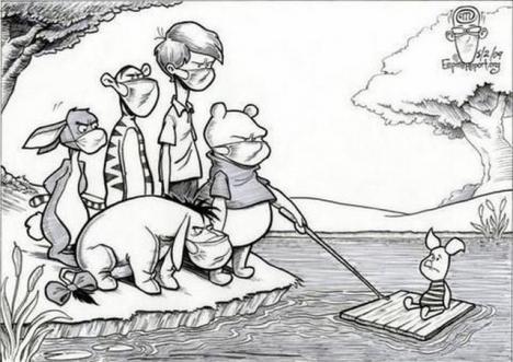 Svininfluensan har drabbat Sjumilaskogen