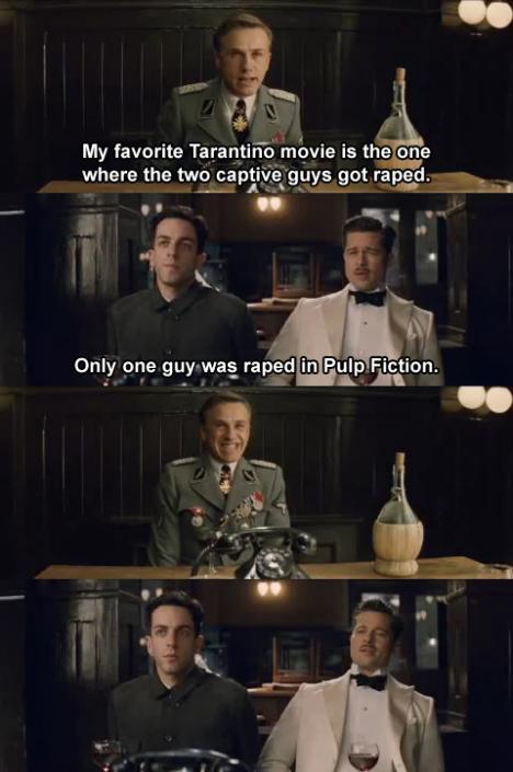 Min favorit av Tarantino-filmerna är den när...