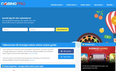 Ny logo hos Casinopro.se