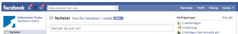 Facebook smyger ut ny design