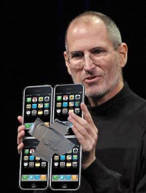 Steve Jobs visar upp iPhone multitasking