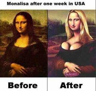 Mona Lisa efter en vecka i USA