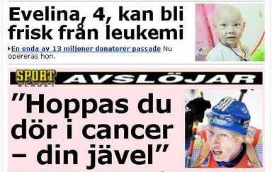 Aftonbladet misslyckas med nyhetsplacering