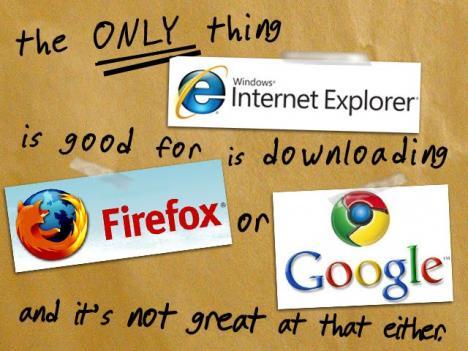 Internet Explorer blir dissad [Bild]