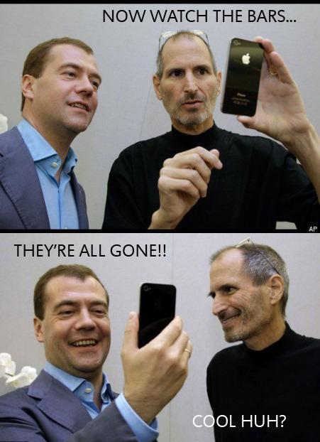 Steve Jobs skryter om iPhone 4-problemen
