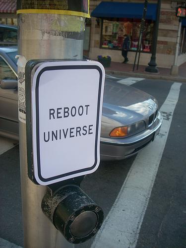 Starta om universum